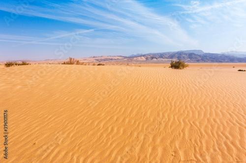 Sand Dune in Wadi Araba desert. Jordan