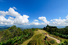 View Point At Huai Nam Dang National Park With White Cloud And Blue Sky