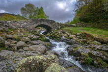 Ashness Bridge In The Lake District Cumbria.