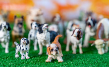Plastic Figurines Of Dogs And Farm Animal