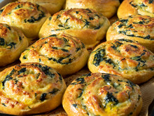 Dough Curls With Spinach And C...
