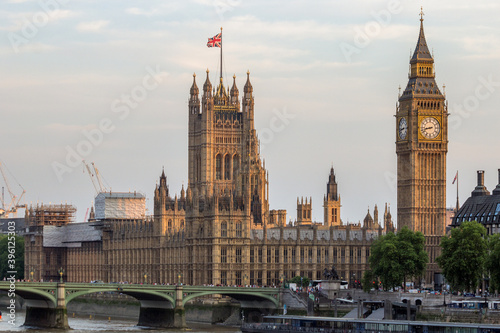 Fotomural Big Ben and Victoria Tower of Palace of Westminster in London, UK