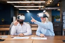 Office Worker Or Businessman Using Oculus Rift Headset