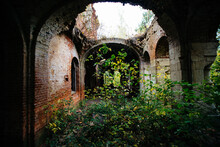 Old Ancient Abandoned Red Bric...
