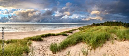 Cuadros en Lienzo Beautiful see landscape panorama, dune close to Baltic See, Slowinski National P