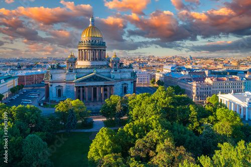 Saint-Petersburg from drone Fototapet