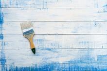 Paint Brush Lying On The Woode...