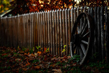 Wheel At A Fence