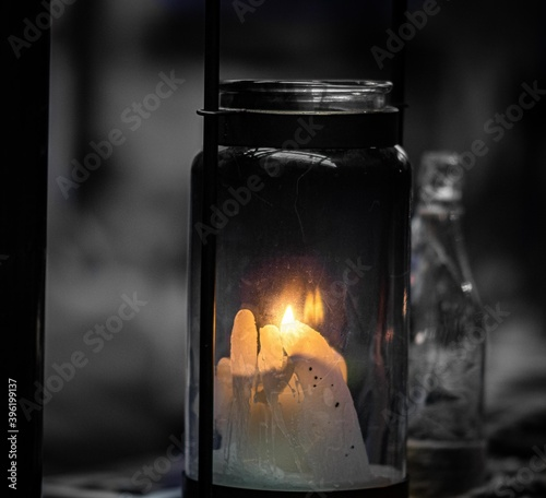 Fototapeta candle in the glass obraz na płótnie