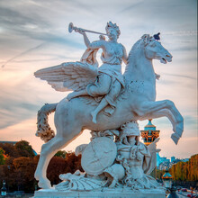 One Of The Classic Sculptures That Decorate The Champs Elysees In Paris