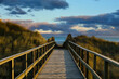 A view of the walkway to St Andres beach, fife, scotland.