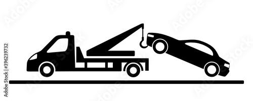Obraz pomoc drogowa ikona - fototapety do salonu