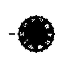 Mode Camera Dial. Vector