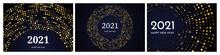 2021 Happy New Year Of Gold Glitter Pattern