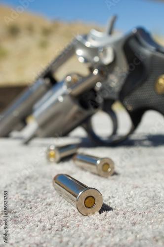 Slika na platnu Gun range and guns concepts