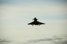 Eurofighter Typhoon Landing At RAF Lossiemouth, No. 2 Squadron RAF