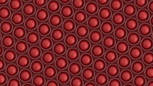 3d Render Abstract Pattern Of Round Shapes