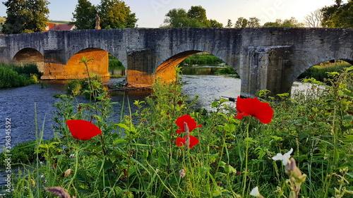 Cuadros en Lienzo Tauberbrücke von Balthasar Neumann in Tauberrettersheim
