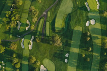 Summer 2020 - New York, USA: Aerial View Of Winged Foot Golf Course.