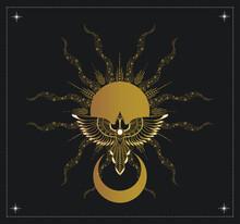 Bird Flying To The Sun, Tarot Cards, Magic Symbol