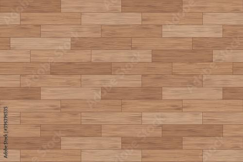 Obraz Floor wood parquet. Flooring wooden seamless pattern. Design laminate. Parquet rectangular tessellation. Floor tile parquetry plank. Hardwood tiles. Rectangles slabs brown wooden. Vector background - fototapety do salonu