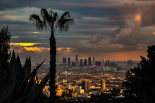 After Rain Of LA View From Hollywood Hills