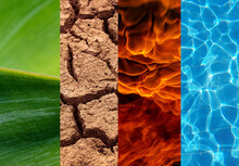 Four Elements Rectangles Abstract Background And Texture.