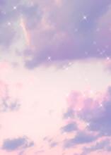 Sparkle Cloud Pastel Purple Background Image