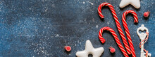 Candy Canes And Gingerbread Cookies