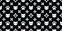 Cats Seamless Pattern. Vector Illustration Background For Surface, T Shirt Design, Print, Poster, Icon, Web, Graphic Designs.