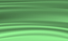 Green Cloth Textile Wrinkles For Background. Abstract Blurred Background. Creative Composition. Eps 10