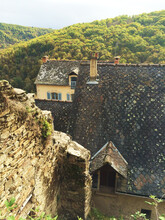View Of A Touristic Medieval French Village Najac Where Vincent Van Gogh Lived