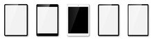 Tablet Pc Set. Tablet Realistic Vector