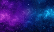 Nebula And Stars In Night Sky. Space Background.