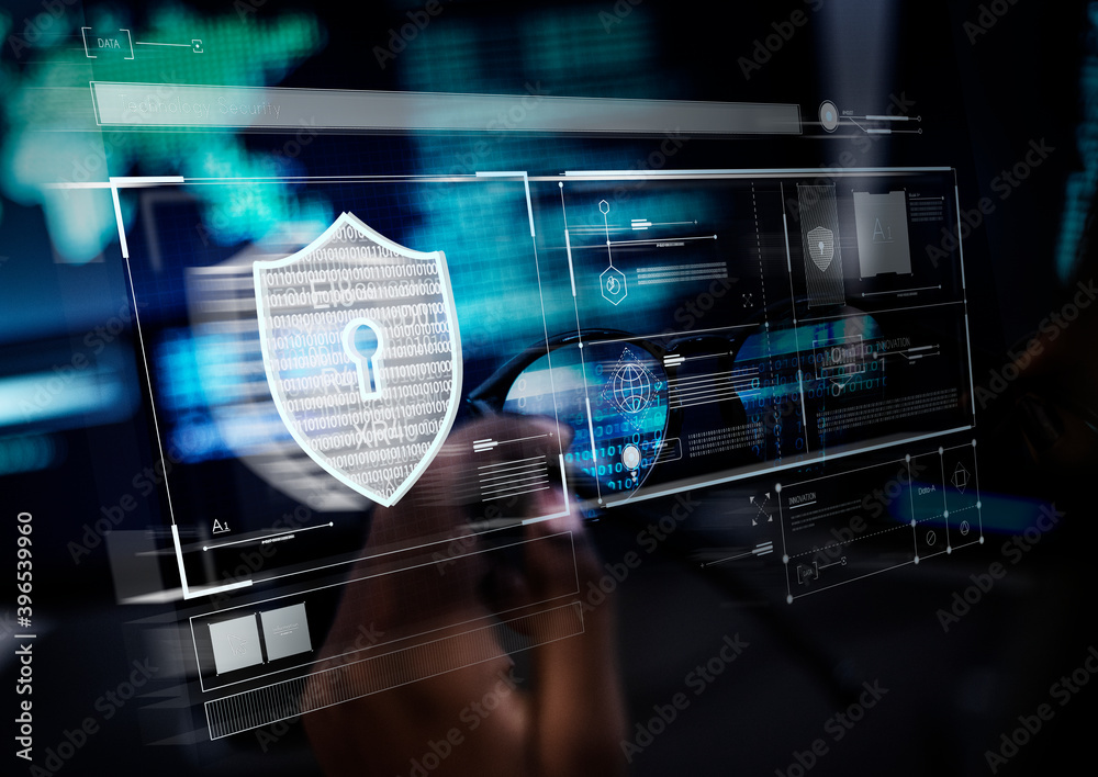 Fototapeta Padlock symbol for computer data protection system