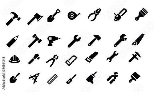 Fototapeta  Tools Icons vector design obraz na płótnie