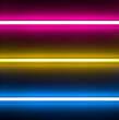 multicolour neon lights, glowing horizontal line