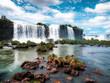 waterfall in the park iguazu falls