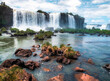 waterfall on the river iguazu falls