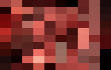 Dark Red Grid Mosaic Background, Creative Design Templates. Abstract Colorful Gradient Rectangles Check . Background Of Squares Different Pixel Pattern Shades.