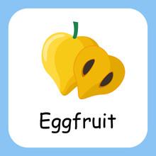 Eggfruit Clip Art, Illustration For Kids, Cartoon Fruit Illustration