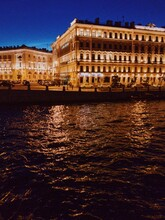 Saint Petersburg Rivers At Night