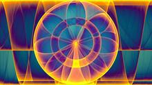 Rendu D'un Travail Numérique Coloré Représentant La Naissance D'une Rose Géométrique Abstrait Aux Effets De Lumière.