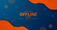 Modern Twitch Background Screensaver Offline Stream Gaming Orange Fluid With Memphis Style