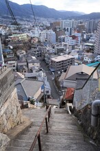両城の200階段と呉の街並み