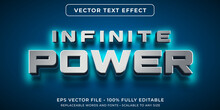 Editable Text Effect - Glowing Power Text Style