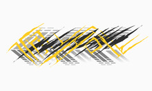 Warp Car Racing Designs Vector, Suitable To Decorate The Body Of Cars And Boats