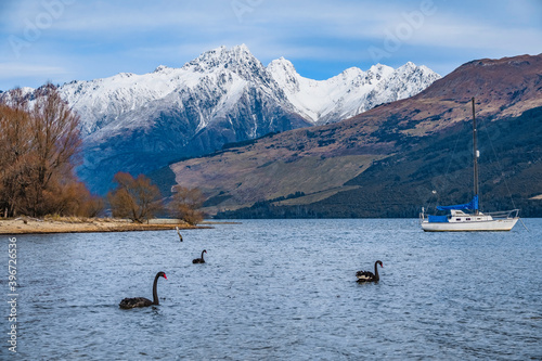 Wakatipu lake in the winter. New Zealand, South Island © sardinelly