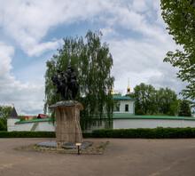 Monument To Boris And Gleb About Borisoglebsky Monastery, Dmitrov, Moscow Region, Russia.