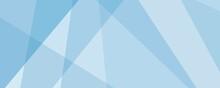 Web Banner Azzurro Astratto Geometrico